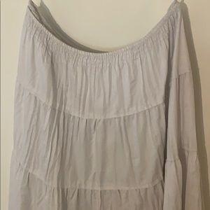 White House Black Market Skirts - White flowy skirt